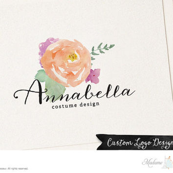 premade logo design flower logo rose logo fashion logo jewelry logo website logo blog logo business logo floral logo boutique logo design