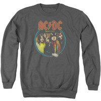 ACDC/HIGHWAY TO HELL-ADULT CREWNECK SWEATSHIRT-CHARCOAL