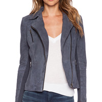 Muubaa Cottica Biker Jacket in Slate