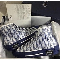 DIOR hot sale new product printed letters high-top platform sneakers casual shoes