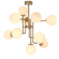 10-Light White Frosted Globe Chandelier | Eichholtz Chase