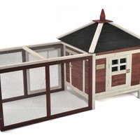 Advantek Prairie Home Poultry Hutch & Run | www.hayneedle.com