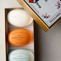 Caswell-Massey Presidential Soap Collection by Anthropologie Number Six Set Of 3 Fragrance