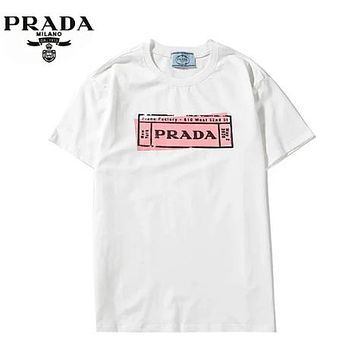 Prada New fashion letter print couple top t-shirt