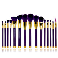Makeup Brush Sets 15-pcs Make-up Brush Make-up Tools Pale Violet Brush [9647071951]