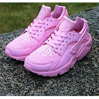 Nike Air Huarache 1 Rainbow Ultra Breathe Women Pink Running Sport Casual Shoes Sneakers - 01