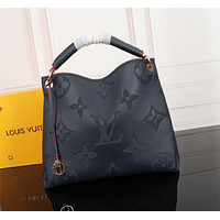 LV Louis Vuitton MONOGRAM empreinte LEATHER ARTSY HANDBAG TOTE BAG