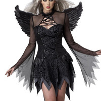 fantasia halloween costumes for women sexy fantasy cosplay party fancy dress 2016 autumn Adult Fallen Angel Costume