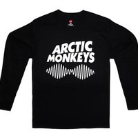 RTGraphics Men's Arctic Monkeys II Waves Long Sleeve Shirt Small Black