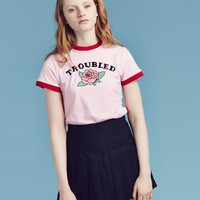 Lazy Oaf Troubled T-shirt - Rebel girl - Featured - Womens