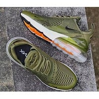 NIKE Air Max 270 Men Fashion Contrast Sneakers Shoes  Army green