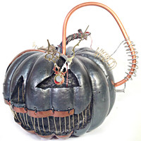 X-Large Steampunk Clockwork Halloween Pumpkin