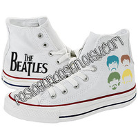 The Beatles Custom Converse / Painted Shoes
