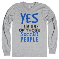 Yes I am one of those Soccer people tank top tee t shirt-T-Shirt
