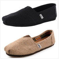 TOMS NATURAL BURLAP linen Womens Classics Shoes US Size
