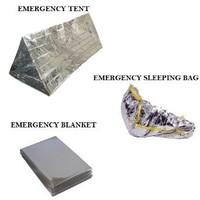 Emergency Thermal Outdoor Survival Camping Kit - Blanket, Tent, Sleeping Bag