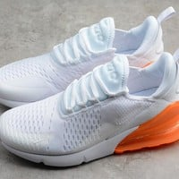 "Nike Air Max 270 ""White&Orange"" Men Women Sneaker AH8050-102"