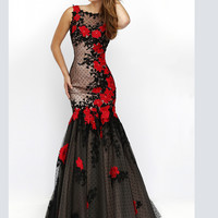 Polka Dotted Skirt Sherri Hill Formal Prom Gown 11326