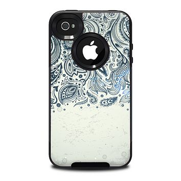 The Vintage Tan & Black Top Swirled Design Skin for the iPhone 4-4s OtterBox Commuter Case