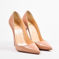 HCXX Christian Louboutin Nude Patent Leather   So Kate 120   Pointed Toe Pumps