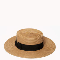Pleated Boater Hat