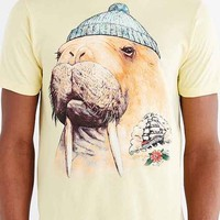 Design By Humans Tattooed Walrus Tee