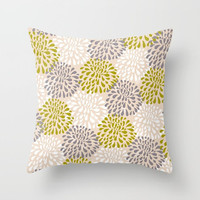 Decorative Throw Pillow Cover or Shams - Square, Rectangular, Double-sided print, Indoors, Outdoors, Gift, Pastel, Pink, Floral, Nature
