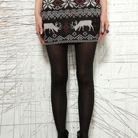 Urban Outfitters  - BDG Reindeer Intarsia Pull-On Skirt