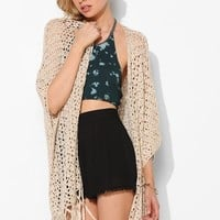 Staring At Stars Crochet Fringe Cardigan - Urban Outfitters