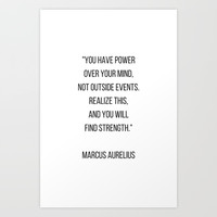 Stoic Philosophy Quote - you have power over your mind Art Print by Love from Sophie