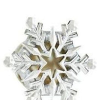 New Bath & Body Works Scentportable Car Freshener Visor Clip Metallic Snowflake