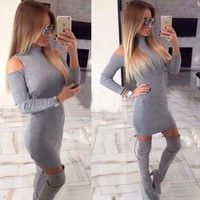 Autumn Dress Long Sleeve One Piece Dress [73429614618]