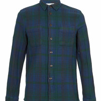 GREEN CHECK LONG SLEEVE FLANNEL SHIRT - New In - TOPMAN USA