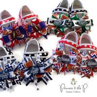 Baby Girl, Football Shoes, baseball shoes, Choose your team, Football, Baseball, photo prop, crib shoes, sports team, football outfit