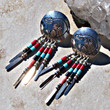 Hopi Bear Earrings Vintage 1970 Direct Checkout Beaded Earrings