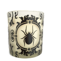 Haunted Damask Votive Candle and Candle Holder
