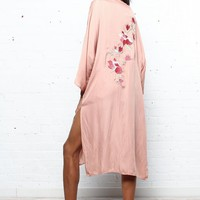 Back At It Satin Kimono