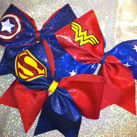 Super Hero Inspired Cheer Bow