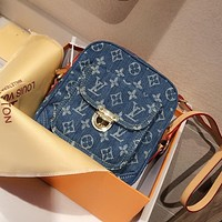 LV Louis Vuitton denim canvas camera bag shoulder bag crossbody bag