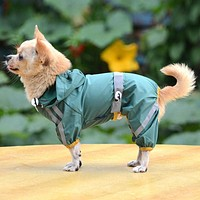 Pet Hoody Waterproof Rain Raincoat Dog Clothes, Puppy Clothes & Cat Clothes