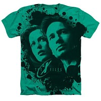 The X-Files Mulder and Scully Heathered T-Shirt