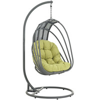 LexMod Whisk Outdoor Patio Swing Chair in Peridot