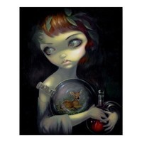 Microcosm: Fawn ART PRINT gothic alchemy lowbrow from Zazzle.com