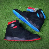 Nike Air Jordan 1 Retro High OG Quai 54 Q54 Basketball Shoes AJ1 Black Red Blue AH1040-054 Sneaker - Sale