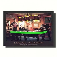 Nilima Home's Product - Neonetics Legal Action Neon Poster Sign - Legal Action Lighted Poster - All Wall Art - Wall Art & Coverings - Decor