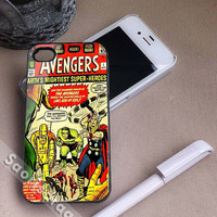 Comic The Avengers Thor Iron Man Hulk for iPhone 4/4s, iPhone 5, 5s, 5c Case, Samsung Galaxy S3, S4 Case