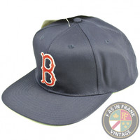 Boston Red Sox Snapback Hat   F as in Frank Vintage Clothing