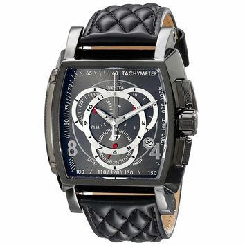 Invicta 15792 Men's S1 Rally Swiss Gunmetal Dial Chronograph Leather Strap Watch