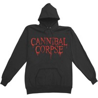 Cannibal Corpse Men's  Crown Skeleton Hooded Sweatshirt Black