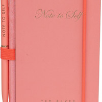 Ted Baker Mini Pink Notebook